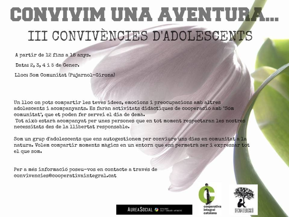 III CONVIVÈNCIES PER ADOLESCENTS