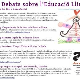 Cicle Debats sobre l'Educació Lliure a AureaSocial (Bcn)