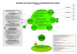 Esquema de la dinamització del sistema de salut pública cooperativista