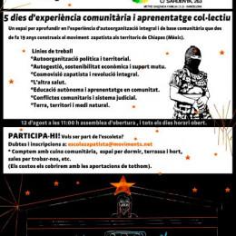 12-16 d'agost. L'Escoleta Zapatista us necessita