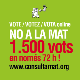 La lluita contra la MAT revifa. Vota-hi en contra!