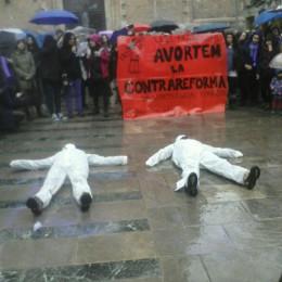 Mobilització a Gràcia contra la nova llei de l'avortament