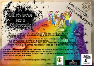 IV Convivències per a Adolescents, 13 al 17 d'abril