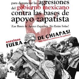 15M. Solidaridad con las bases de apoyo zapatistas