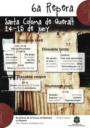 14-15 de juny. VI Repera i Fira de proximitat a Santa Coloma de Queralt
