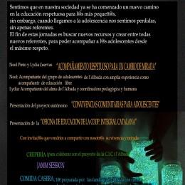 22 de juny. 2a Jornades amb l'adolescència a L'Albada