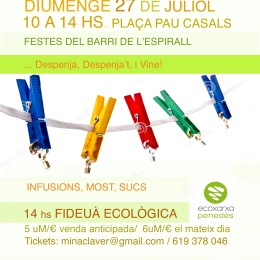 27 de juliol. Mercat d'Intercanvi al barri de l'Espirall a Vialfranca