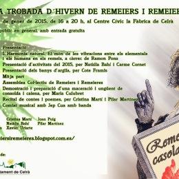 24 de gener, Celrà: Quarta trobada d'hivern de remeiers i remeieres