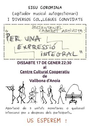 Cabaret artivista a Vallbona d'Anoia
