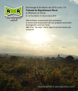 8 de febrero, Barcelona: Encuentro de Repoblament Rural
