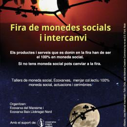 21 de març, a Mataró: Fira de monedes socials i d'intercanvi