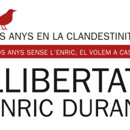 Comunicado de apoyo al #RetornoenLibertad de Enric Duran