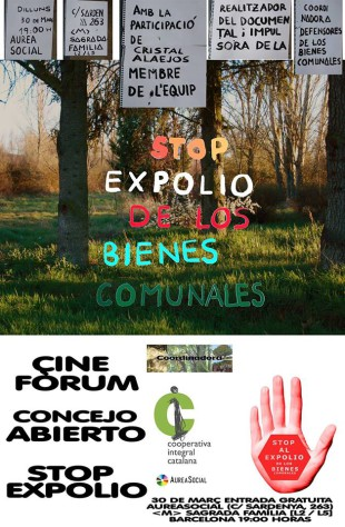 30 de març. Cinefòrum «Stop al expolio de los bienes comunales» a AureaSocial