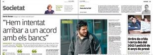El diari ElPunt/Avui entrevista Enric Duran sobre el seu #RertornEnLlibertat