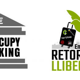 We argue #ReturnWithFreedom Enric Duran wiht #OccupyBanking