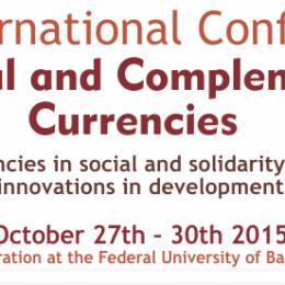 27-30 d'octubre al Brasil. La CIC a la III Conferència Internacional de monedes socials i complementàries