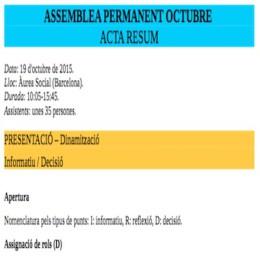 Acta de l'Assemblea Permanent de la CIC del 19 d'octubre