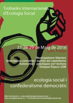 27-29 de maig a Lió. Trobada internacional d'Ecologia Social