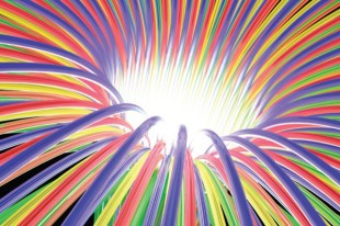 Multicoloured light ray funnel, artwork  Image downloaded by Gillian Abbott at 16:31 on the 20/05/11