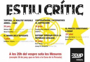 La CUP Farners convida la CIC al setè «Estiu crític»