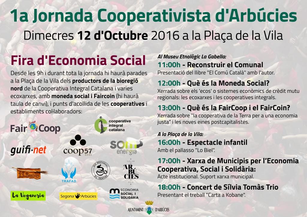12 d'octubre: 1a Jornada Cooperativista d'Arbúcies