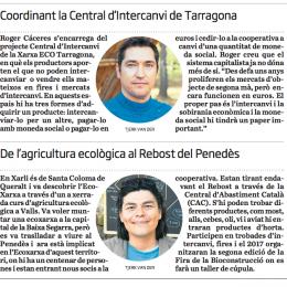 El diari «Ara» al Camp de Tarragona parla de la moneda social i la CIC