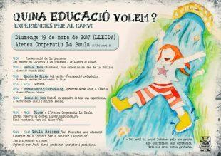 19 de març. «Quina educació volem?», jornada a Lleida