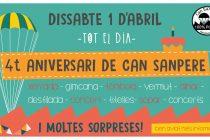 1 d'abril: Can Sanpere celebra el seu quart aniversari
