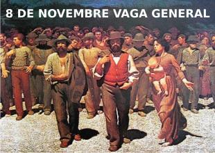 Davant la Convocatòria de Vaga General del 8 de Novembre