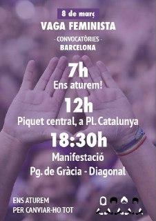 8 de Març Vaga Feminista-Manifestació a les 18,30 h