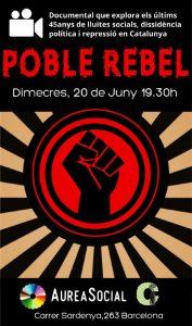 """20 de  juny Presentació de """"Poble Rebel"""" a Aurea Social"""