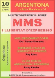 Multiconferència sobre MMS a Argentona el 10 de desembre